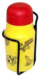 Flaska, barn med tryck, inkl hållare