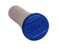 Plastknopp till Basta Click 3, grå/blå