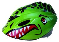 Cykelhjälm,T-rex grön barnmod