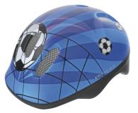 Hjälm fotbollar blå 52-56 mm