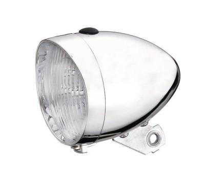 Framlampa 3 dioder kromad