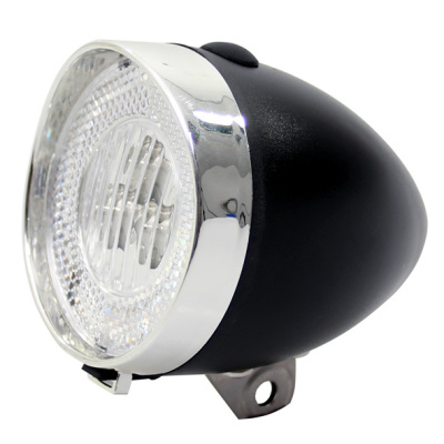 Framlampa 3 dioder Svart/Silver