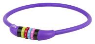 10-1274 Kombinationslås lila siliconhölje 12 x 650mm