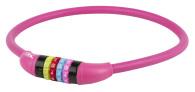 10-1273 Kombinationslås rosa siliconhölje 12 x 650mm