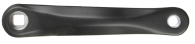 Vevarm vänster svart, bred 170 mm